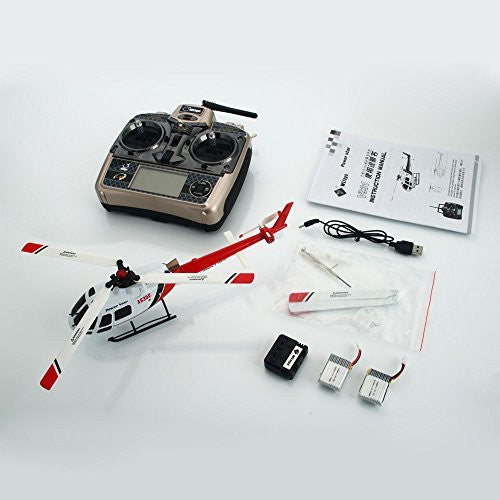 WLtoys V931 6CH 2.4G Brushless Scale Flybarless RC Helicopter with Gyro White - Funzalo Toys