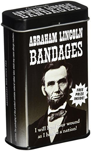 Accoutrements Abraham Lincoln Bandages - Funzalo Toys