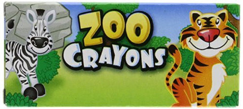 12 Boxes of Crayons Zoo Animal Box 4 Per Box - Funzalo Toys