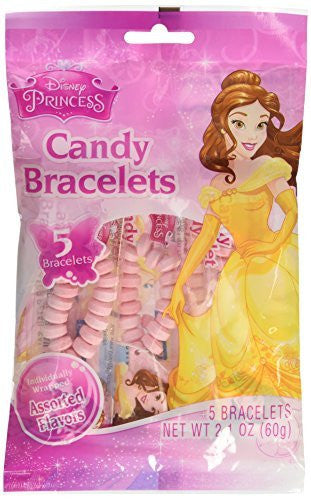 Stretchable Candy Bracelets With Princess Charm - Candy & Hard Candy - Funzalo Toys