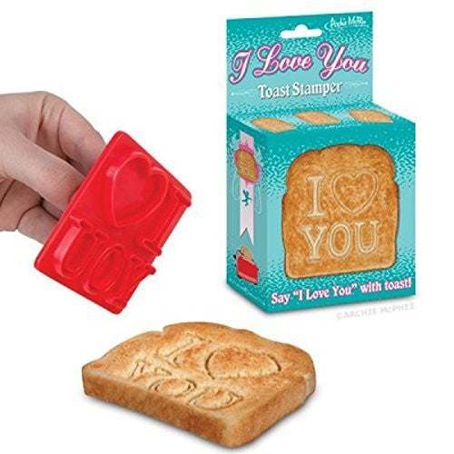 Accoutrements I Love You Toast Stamper - Funzalo Toys