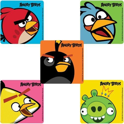 Angry Birds Party Stickers - 75 per Pack - Funzalo Toys