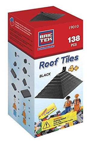 Brictek Roof Tiles- Black- 138 pcs - Funzalo Toys