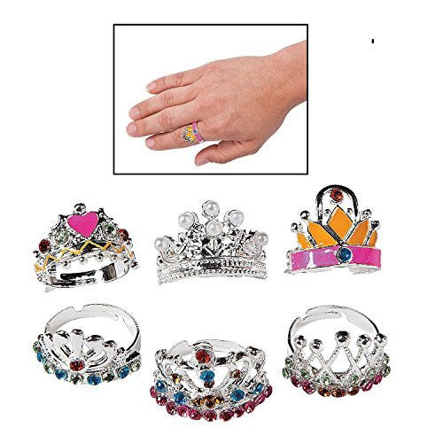 Adjustable Princess Crown Rings (1 dz) - Funzalo Toys