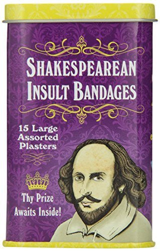 Accoutrements Shakespearean Insult Bandages - Funzalo Toys