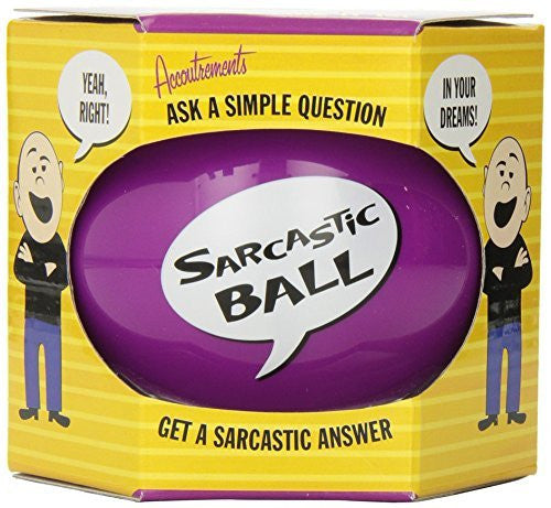 Accoutrements Sarcastic Ball - Funzalo Toys