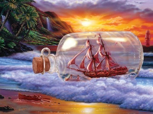 A Ship at Sea a 1000-Piece Jigsaw Puzzle by Sunsout Inc. - Funzalo Toys