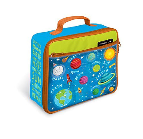 "Crocodile Creek Eco Kids Solar System Insulated Kids' Lunchbox with Handle Kids', 10"" - Funzalo Toys"