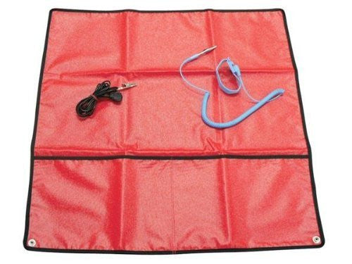 "Velleman AS9 Anti-Static Field Service Kit- Red, 24"" X 24"" - Funzalo Toys"