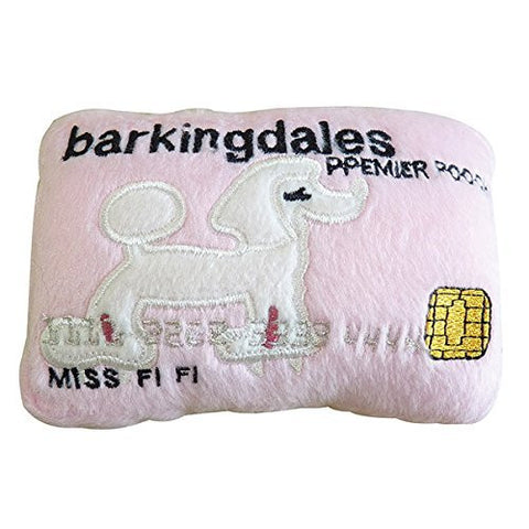 Barkingdales Credit Card Squeaker Toy for Dogs - Funzalo Toys