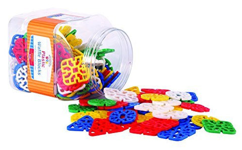 Learning Advantage 7021 Waffle Blocks (Pack of 145) - Funzalo Toys