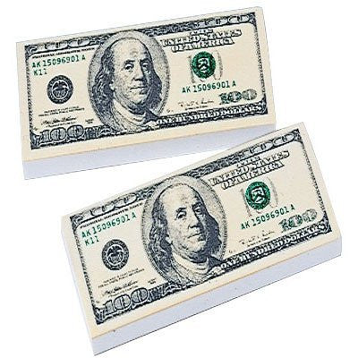 $100 Bill Erasers - Funzalo Toys