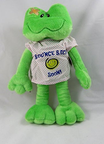"15"" Adorable Plush BOUNCE BACK SOON Frog with HOSPITAL Gown/Cheer UP GIFT/Hope you FEEL BETTER/After SURGERY GIFT/INJURY/HOSPITALIZATION/Brighten SOMEONE'S DAY! SICKNESS/ILLNESS 810203 - Funzalo Toys"