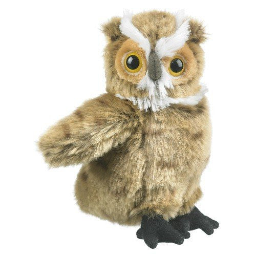 "Great Horned Owl Plush Toy 7"" by Wildlife Artists - Funzalo Toys"