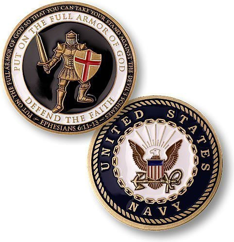 Armor of God - Navy Challenge Coin - Funzalo Toys