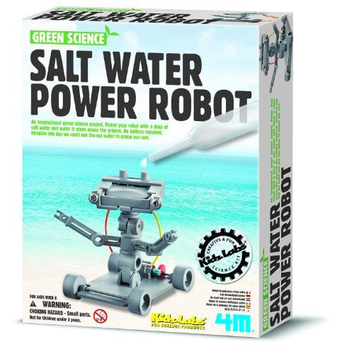 4M Salt Water Powered Robot Kit - Funzalo Toys