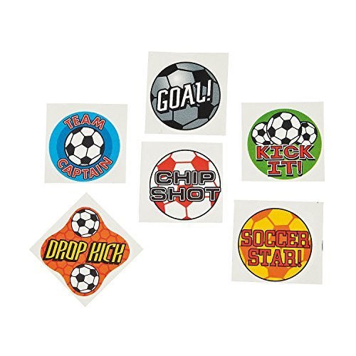 Fun Express Temporary Soccer Tattoos (6 Dozen) - Funzalo Toys