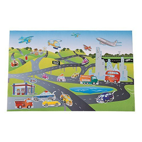 12 Jumbo Transportation Sticker Scenes Design Your Own - Cars Trucks Airplanes and more - Funzalo Toys