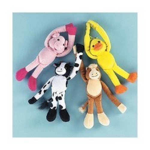 Plush Long Arm Farm Animals - Novelty Toys & Plush Toys - Funzalo Toys