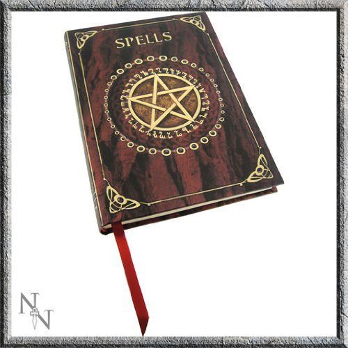 Artist Luna Lakota Witchcraft Wiccan Spells Pentagram Embossed Journal - Funzalo Toys
