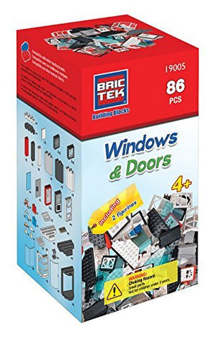 Brictek Windows & Doors Kit- 86 pcs - Funzalo Toys