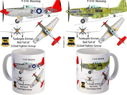 "P-51 Mustang Tuskegee Airmen, ""Red Tails"" - Funzalo Toys"