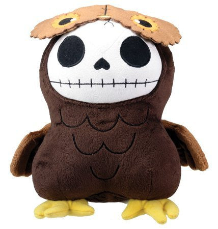 Brown Owl Hootie Furry Bones Collectible Stuffed Plush Doll - Funzalo Toys
