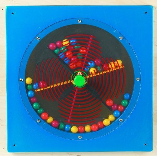 Anatex Busy Cube - Paddle Wheel Wall Panel - Funzalo Toys