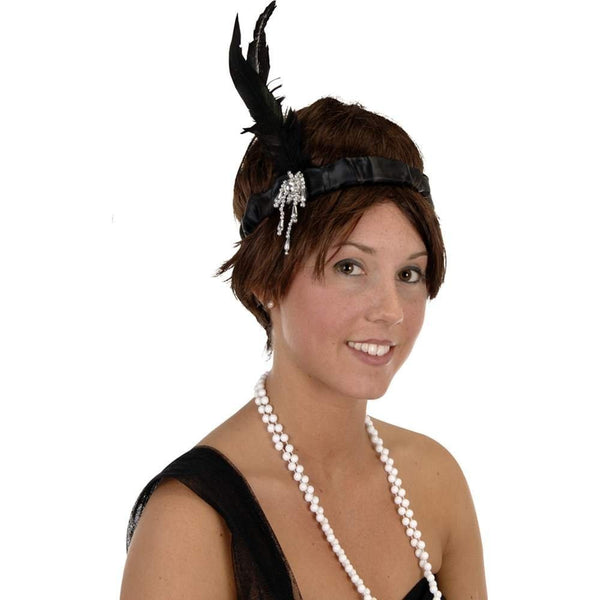 Flapper Headband Party Accessory (1 count) (1/Pkg) - Funzalo Toys