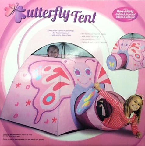 Butterfly Tent Indoor/Outdoor Collapsible Play Tent w/ Tunnel - Funzalo Toys