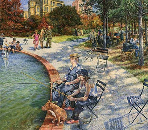 A Day in the Park a 300-Piece Jigsaw Puzzle by Sunsout Inc. - Funzalo Toys