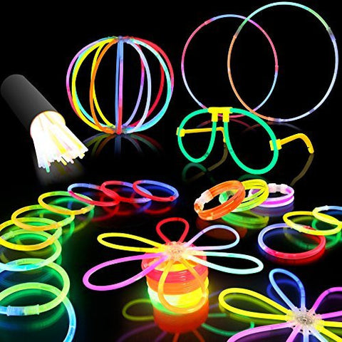 "100 8"" Premium Glow Stick Bracelets Party Pack - Funzalo Toys"