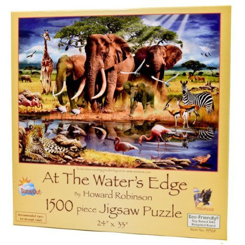 At the Water's Edge a 1500-Piece Jigsaw Puzzle by Sunsout Inc. - Funzalo Toys