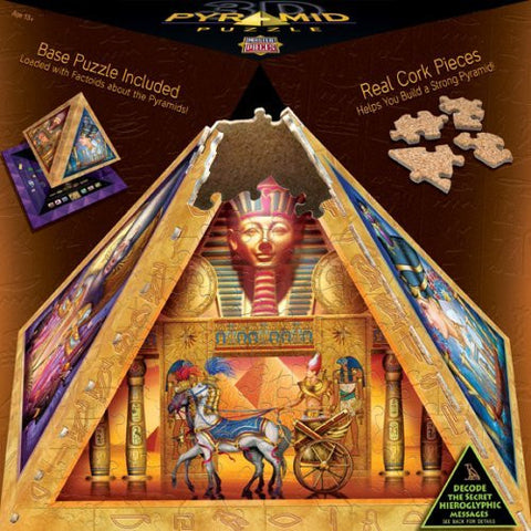 300 Piece Mysteries of The Pyramids Pyramid Puzzle Art by Ciro Marchetti - Funzalo Toys