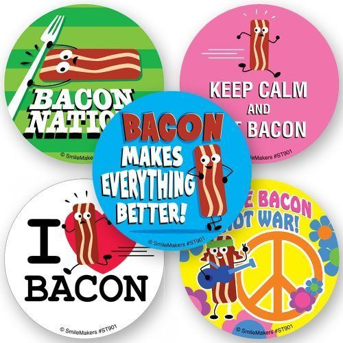 Bacon Scented Stickers - 75 Per Pack - Funzalo Toys