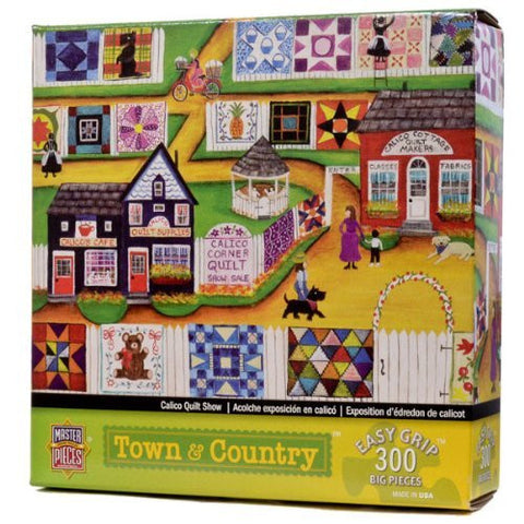 300-Piece Calico Quilt Show Puzzle Art by Cheryl Bartley - Funzalo Toys