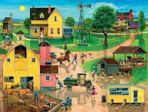 After the Chores a 300-Piece Jigsaw Puzzle by Sunsout Inc. - Funzalo Toys
