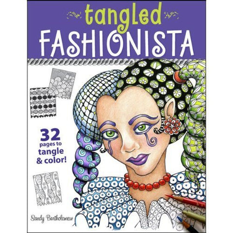 1 X Zentangle Tangled Fashionista Book - Funzalo Toys