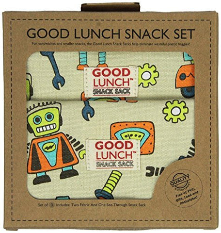 Sugarbooger Set of 3 Good Lunch Snack Sack - Funzalo Toys