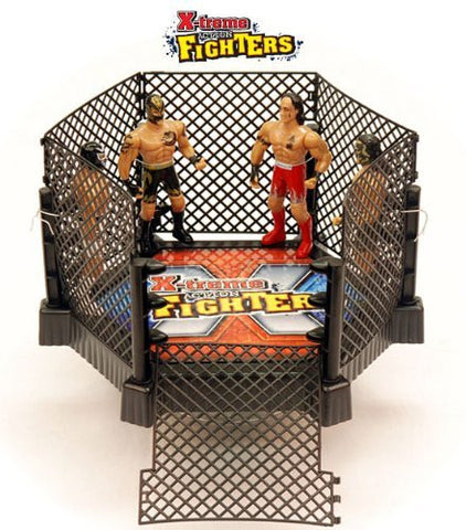 X-treme Wrestling Ring Cage w/4 Action Fighters - Funzalo Toys