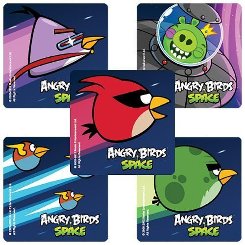 Angry Birds Space Game - 75 Party Stickers - Funzalo Toys