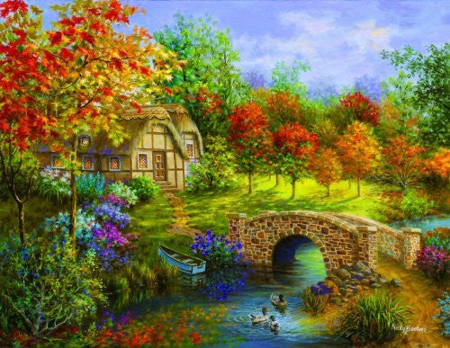 Autumn Beauty a 3000-Piece Jigsaw Puzzle by Sunsout Inc. - Funzalo Toys
