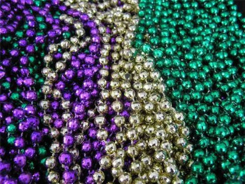 12 beaded mardi gras necklaces - Funzalo Toys