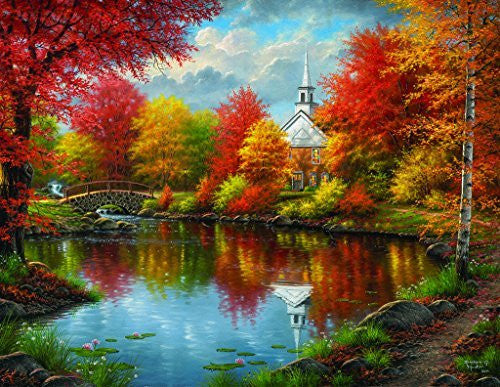 Autumn Tranquility - A 1000 Piece Jigsaw Puzzle By SunsOut - Funzalo Toys