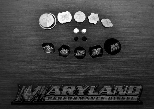 MPD 6.7 Billet Caps RAW - 6.7 POWERSTROKE (2011+)