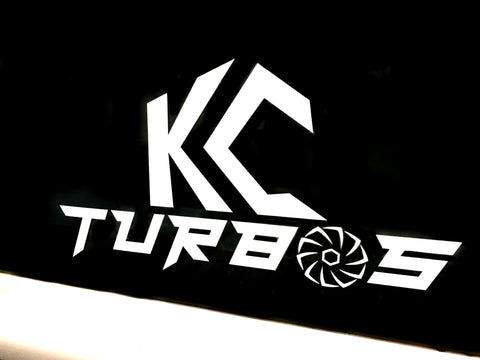 KC TURBOS Vinyl Decal (WHITE)