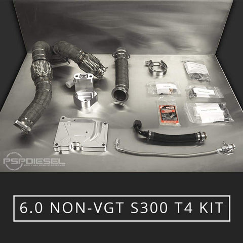 6.0 SoCal Billet Non-VGT T4 S300 Turbo Install Kit