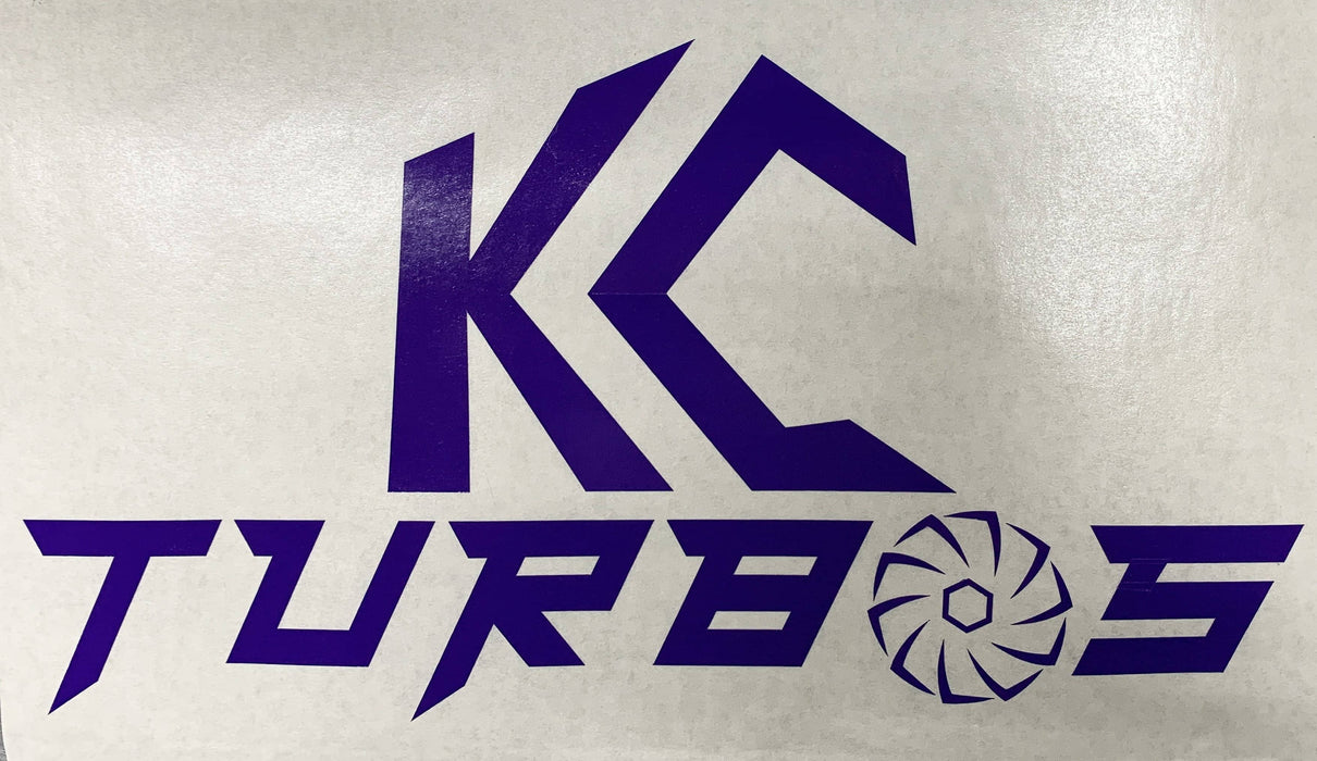 KC TURBOS Vinyl decal (KC PURPLE)