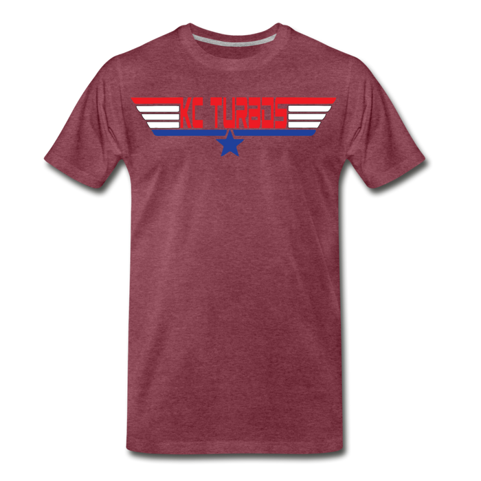 KC Top Gunner T-Shirt - heather burgundy