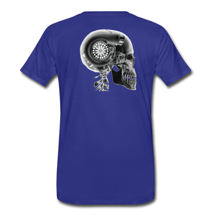 KC Skull Turbo T-Shirt - royal blue